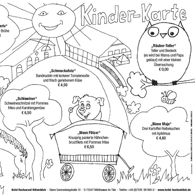 Hotel Höhenblick Kinderkarte