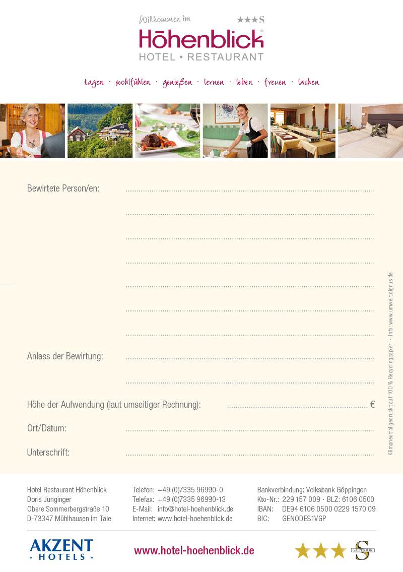 Hotel_Hoehenblick_Bewirtungsbeleg