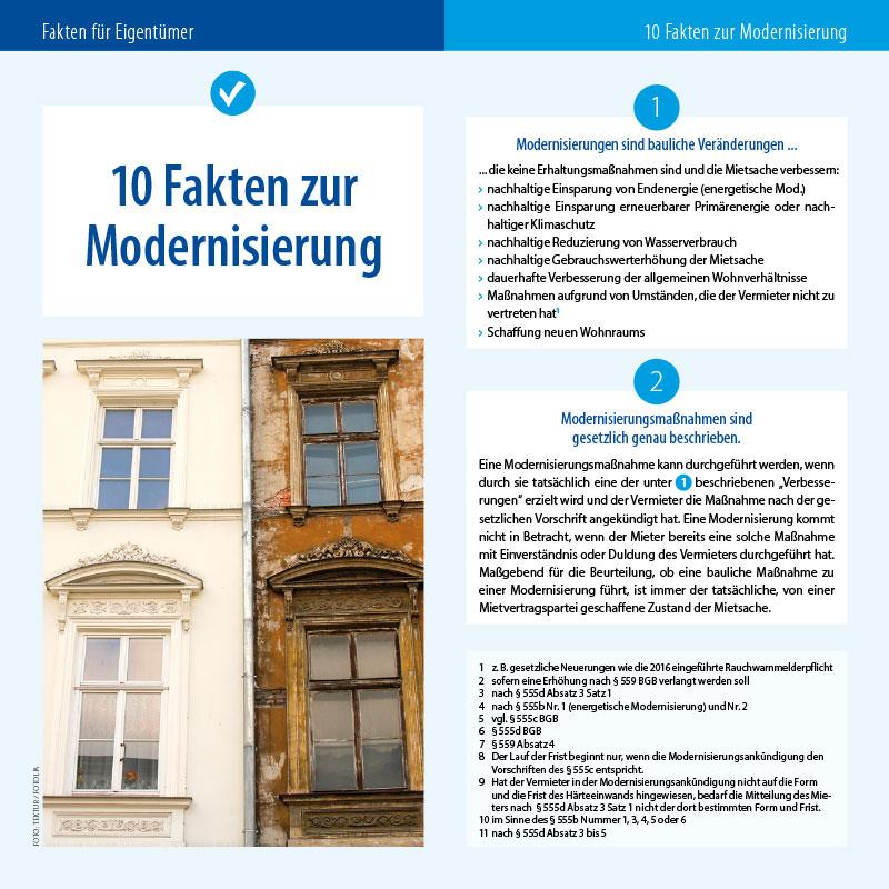 Vermieterexperte 10 Fakten zur Modernisierung 2017