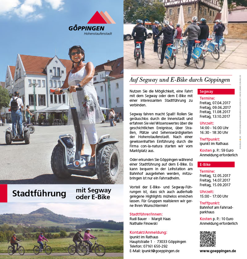 Göppingen Segway- /E-Bike-Führungen 2017
