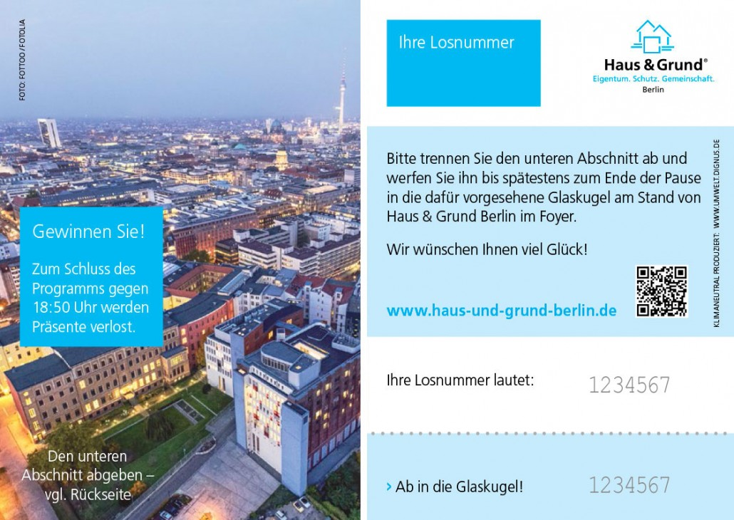 Eintrittskarte Info-Veranstaltung Haus & Grund Berlin