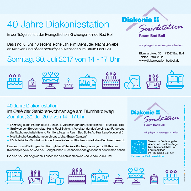 Diakoniestation Raum Bad Boll Einladung