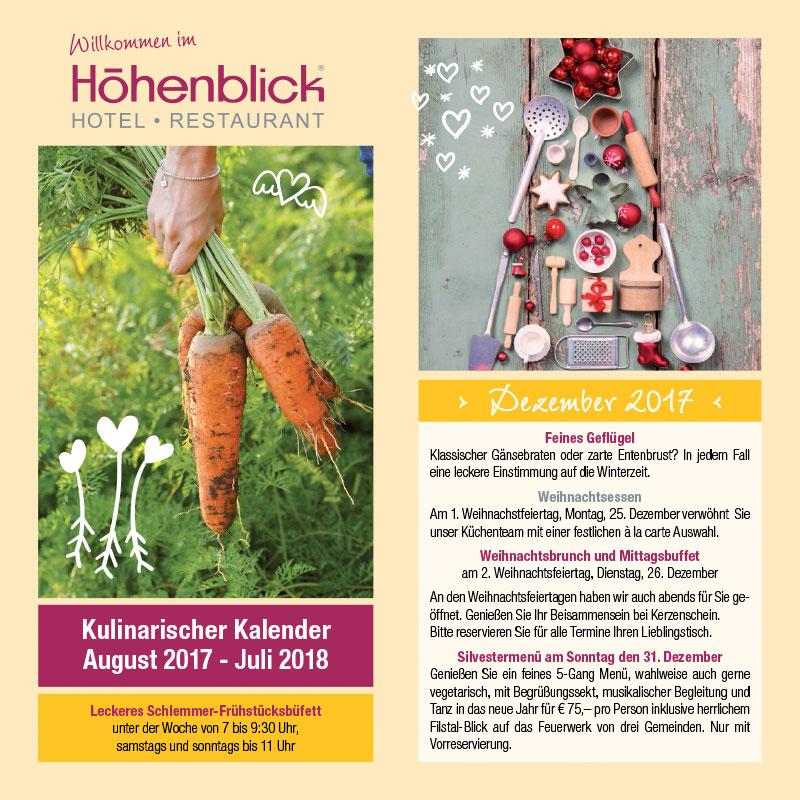 Kulinarischer Kalender 2017-2018