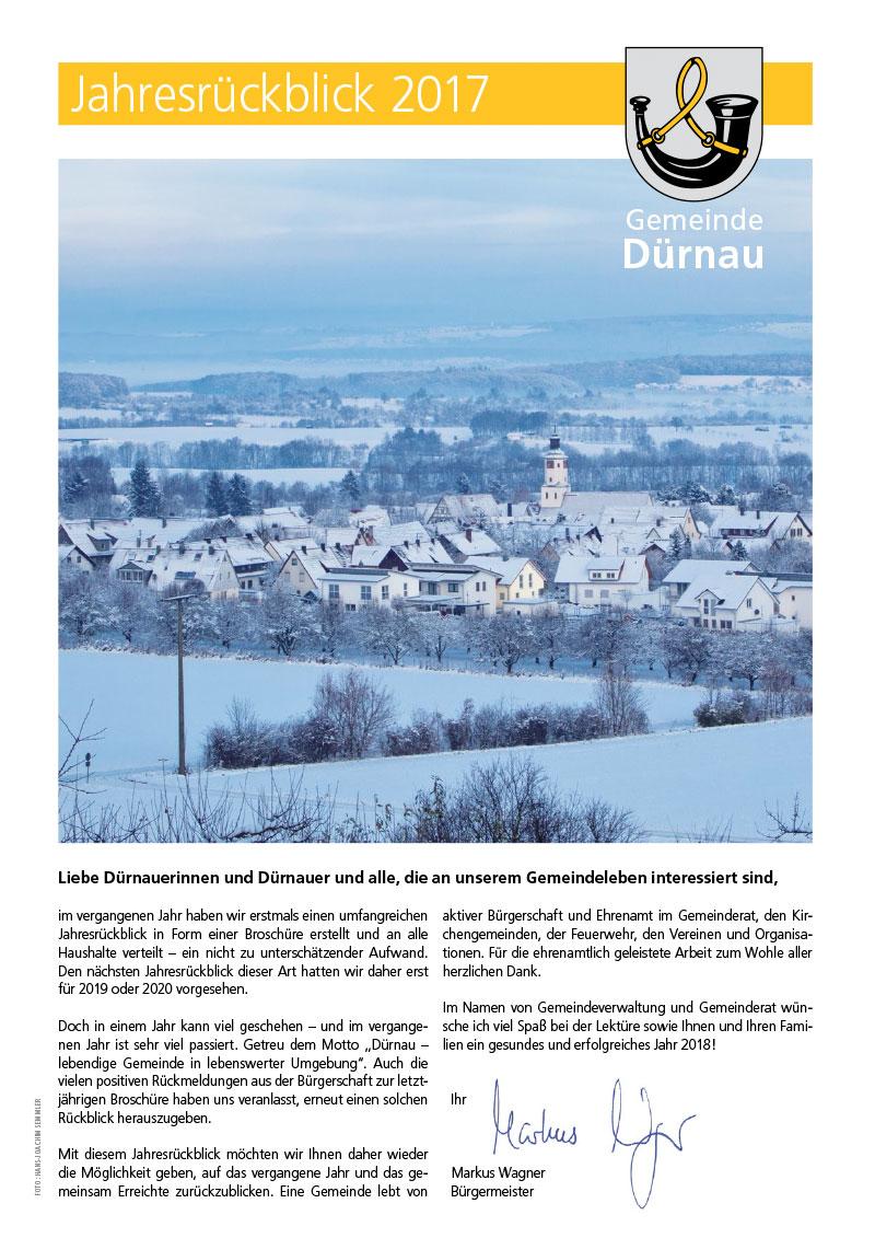 Dürnau Jahresrückblick 2017