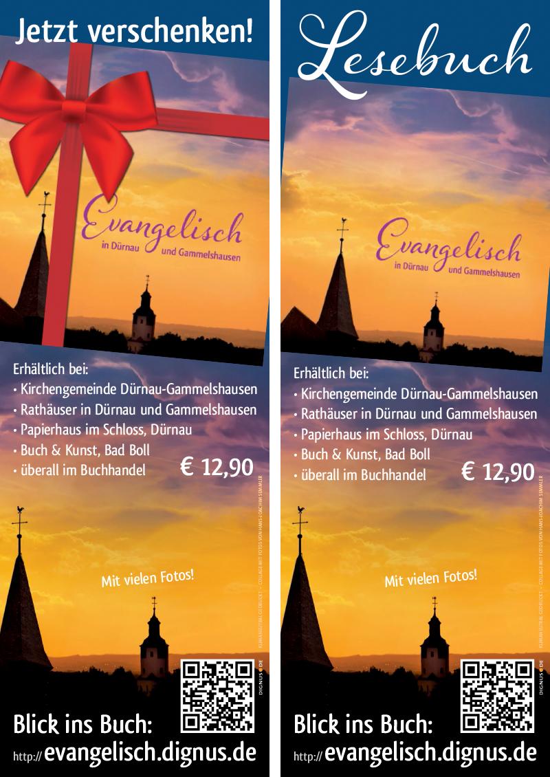 Plakate Evangelisch in Dürnau und Gammelshausen