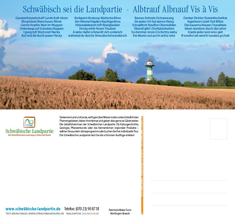 Schwäbische Landpartie Postkarte 2018